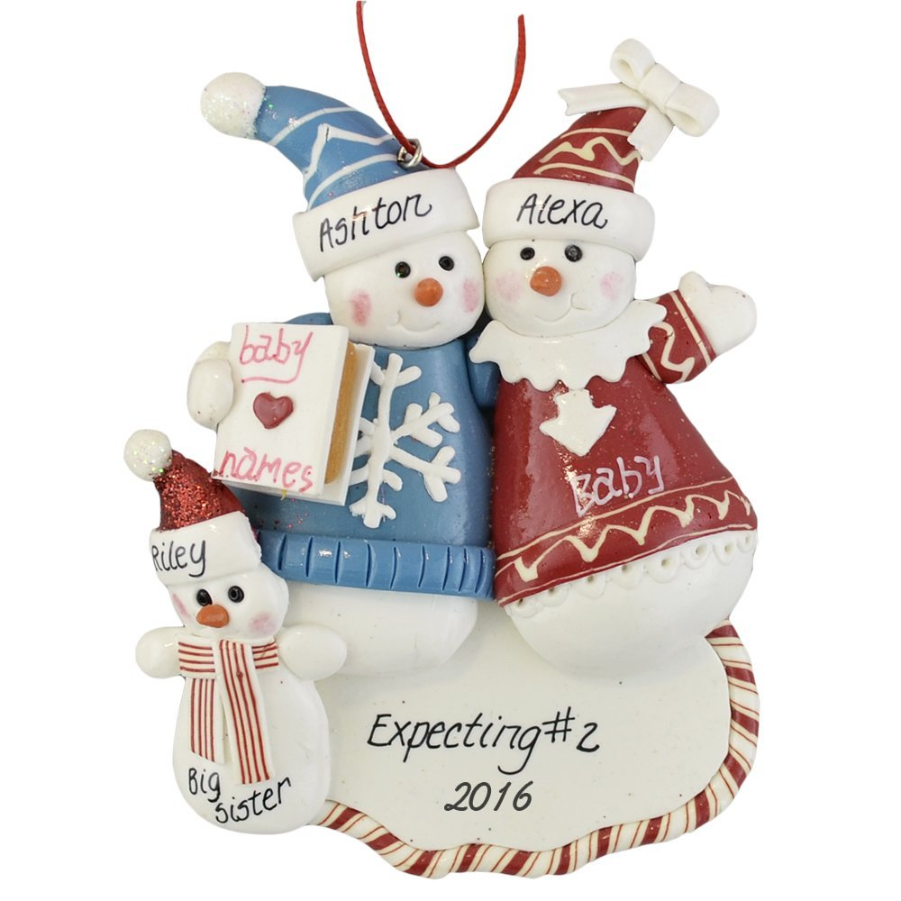 Christmas ornament expecting baby - Amazon Com Expecting A Second Child Personalized Christmas Ornament Baby Keepsake Products Baby