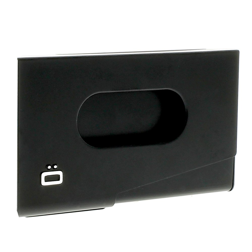 Business Card holder alu black, Ogon Design , One Touch - Black - Ogon Designs OT