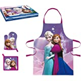 Frozen–Set de cuisine avec tablier, gant et manique, Sun City rna101343)