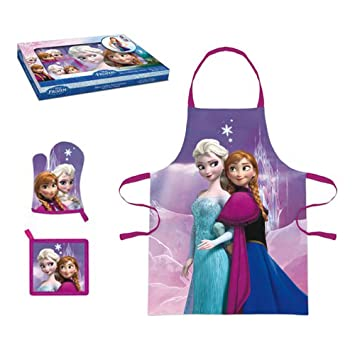 Amazon Com Disney Frozen Elsa Anna My Little Chef Apron Kitchen