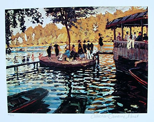 Wall Art by Claude Monet La Grenouvillere Estate Signed & Stamped Limited (Limited Edition Giclee Art)