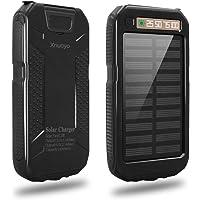 Xnuoyo Cargador Solar Portátil 10000mAh Impermeable Batería LED de luz de Emergencia para Panel Solar Alta Conversión Batería Externa Power Bank