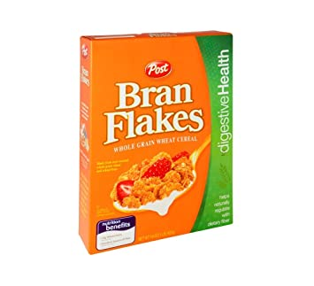 amazon com post bran flakes whole grain wheat cereal 16 oz pack of