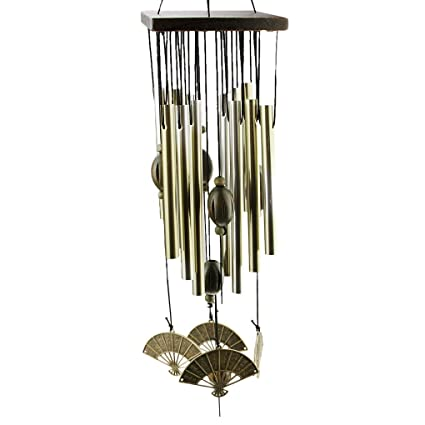 Romantic Bronze Copper Tube Wind Chime Soothing Bell Sound Windbell,  Outdoor Moonlight Home Garden Party Car Decoration