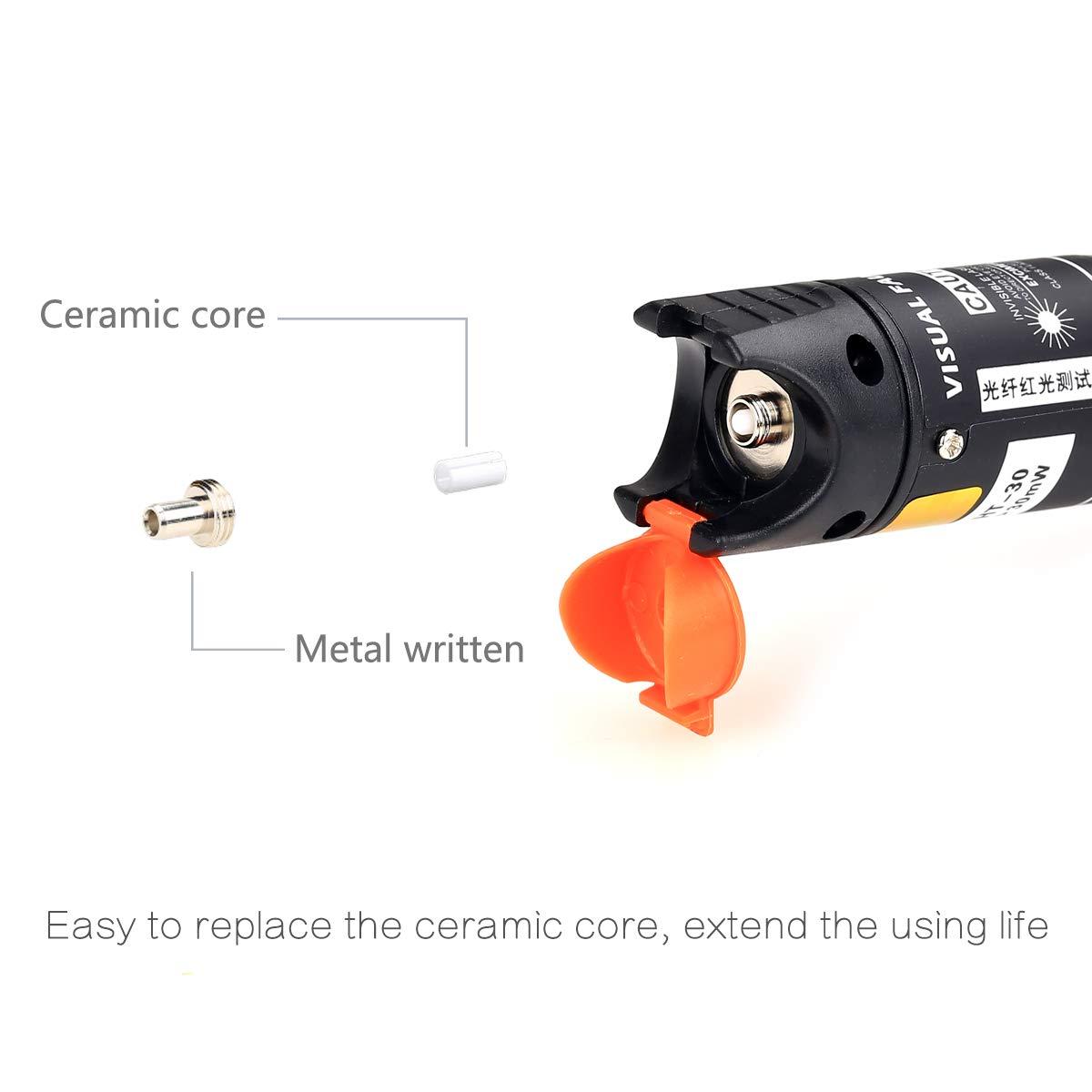 30 mw Pen Tipo medidor de localizador visual de fallos en cables de fibra óptica 25 km, de aleación de aluminio con 2,5 mm conector universal para CATV ...