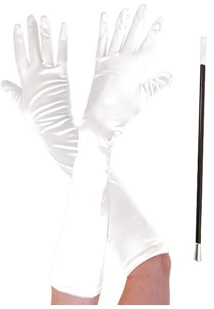 Glossy Look Disfraz de Cruella de Ville vestido Cigarette Holder ...