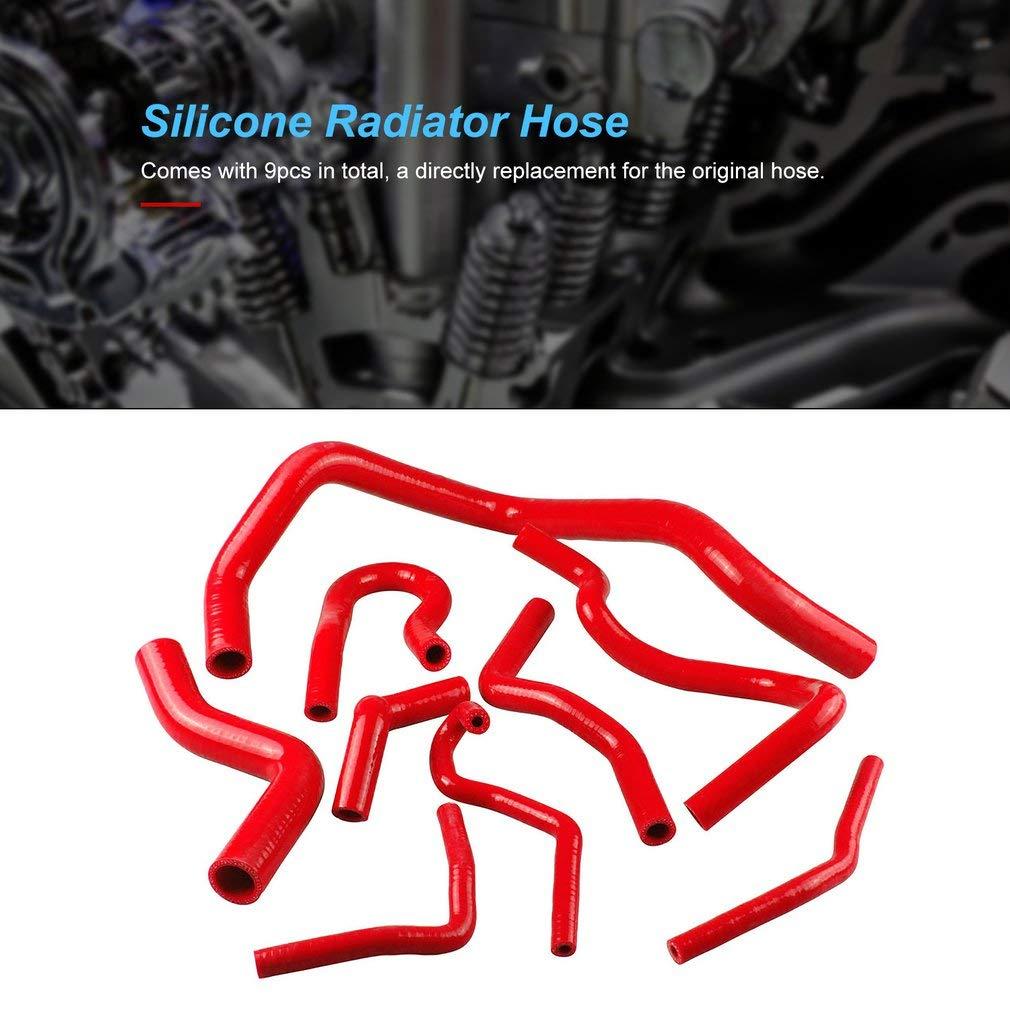 9 Pcs Silicone Radiator Coolant Hose Silicone Hose Kit for Honda for Civic D15 D16 for Sohc Eg//Ek 92-00 Auto Silicone Tube