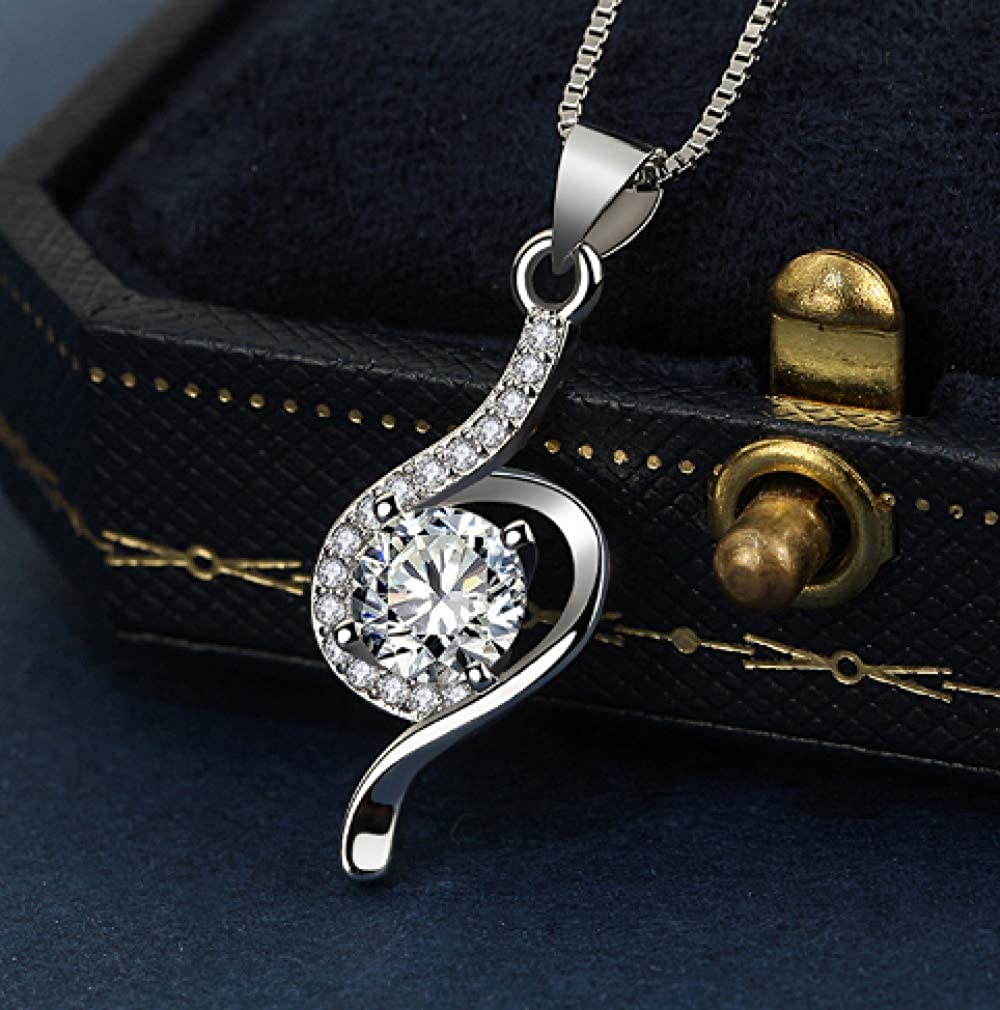N//Y Silver Necklace Fashion Female Necklace Pendant Luxury Crystal Pendant Silver Jewelry Gift