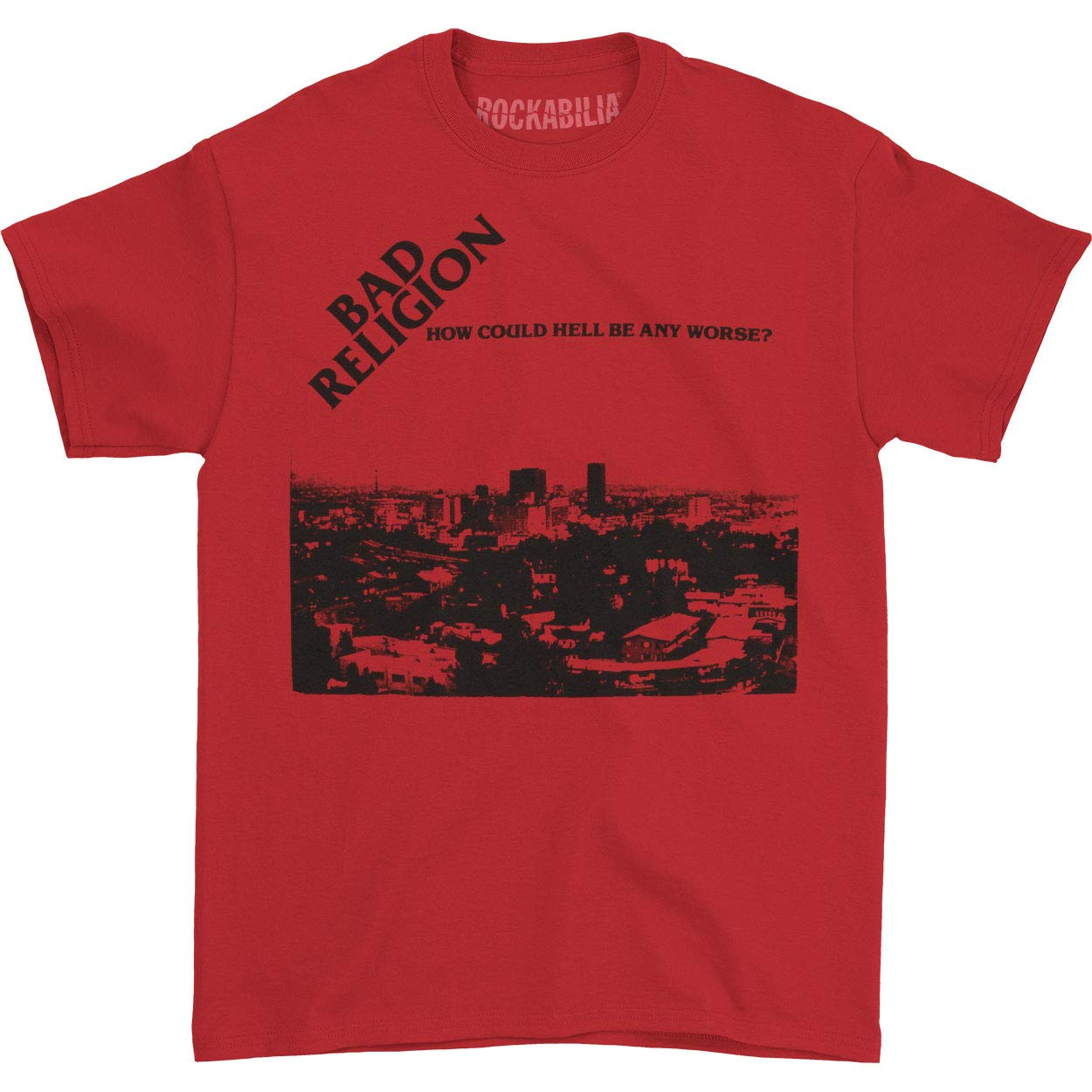 Bad Religion Men's How Could Hell Be Any Worse T-Shirt Red