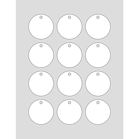 graphic relating to Tags Printable referred to as 60 Printable Cardstock Circle Dangle Tags with Holes, Customize and Tailor made Tags, 2 x 2 inches, White