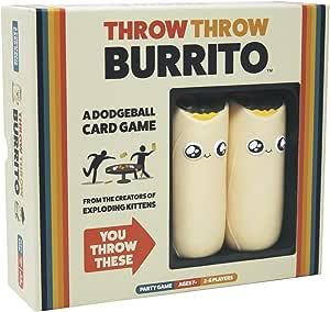 Throw Throw Burrito - Partyspel - Met twee Speelgoedburrito's - Voor de hele Familie - Taal: Engels