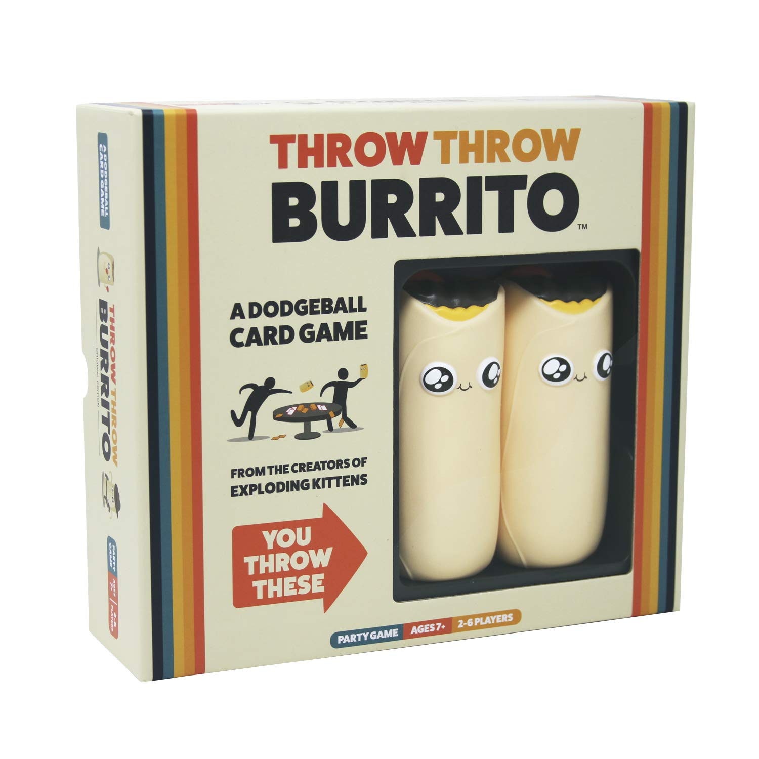 Throw Throw Burrito by Exploding Kittens - A Dodgeball Card Game - Family-Friendly Party Games - Card Games for Adults Teens & Kids