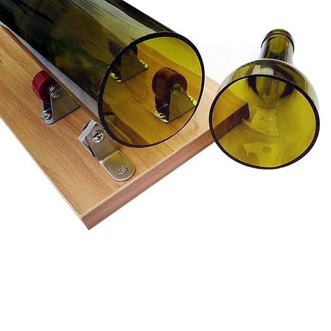 Cortador de Botellas de Vidrio, Herramienta de Corte para Cortar Botellas de Vidrio, Cortar las botellas largas para Crear Manualidades Esculturas de Vidrio ...