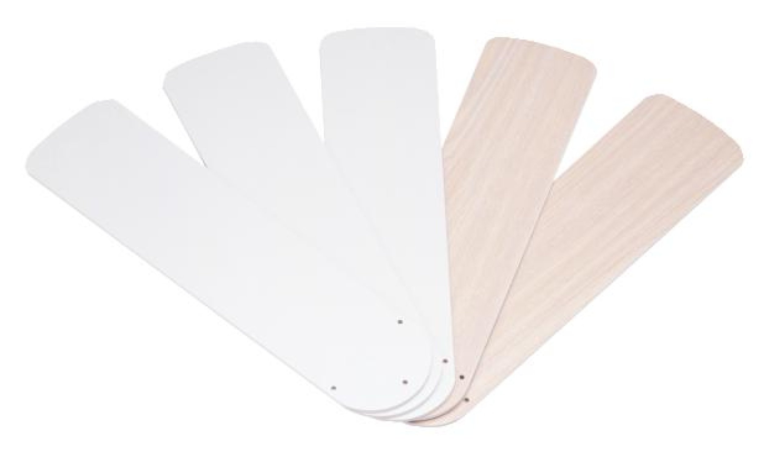 Wellington 7741100 42-Inch White/Bleached Oak Replacement Fan Blades, Five-Pack