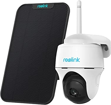 Reolink Argus PT with Solar Panel Bundle - Wireless Outdoor Security Camera Rechargeable Battery Powered Solar Powered 2-Way Audio