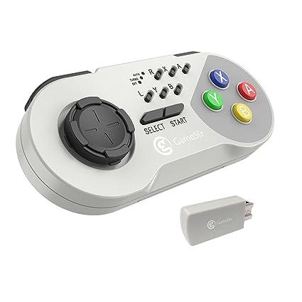 GameSir Mando de Controlador Inalámbrico Turbo Controller para Nintendo SNES Clásico, Super Nintendo NES Turbo