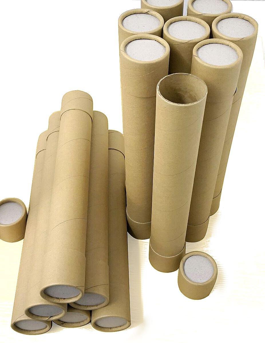 End Caps 100 Black A4 240mm x 50mm Cardboard Postal Tubes