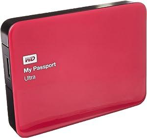 WD 2TB Berry My Passport Ultra Portable External Hard Drive - USB 3.0 - WDBBKD0020BBY-NESN