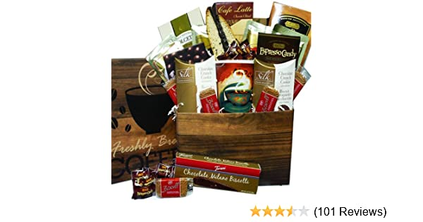 05307d53d259b Amazon.com   Coffee Lovers Care Package Snacks and Treats Gift Box Set with  Mug   Gourmet Coffee Gifts   Grocery   Gourmet Food