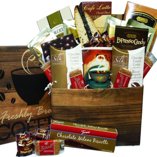 Coffee Lovers Care Package Snacks and Treats Gift Box Set with Mug