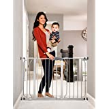 Regalo Easy Step 49-Inch Extra Wide Baby Gate, Includes 4-Inch and 12-Inch Extension Kit, 4 Pack of Pressure Mount Kit and 4