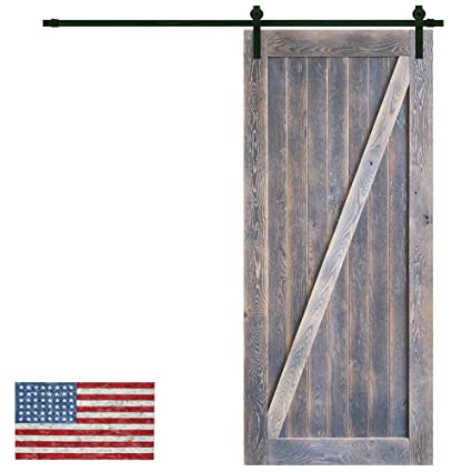 Superieur Made In U.S. Heavy Duty Sturdy Sliding Barn Door Slab Design   Unfinished  Natural Solid Knotty