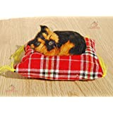 Lifelike Sleeping Little Dog Pet with Cloth Mat Doggie Plush Toy