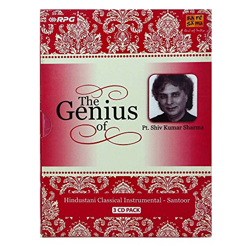 The Genius Of Pt. Shiv Kumar Sharma (3-CD Pack/Hindustani Classical Instrumental/Santoor) by Saregama