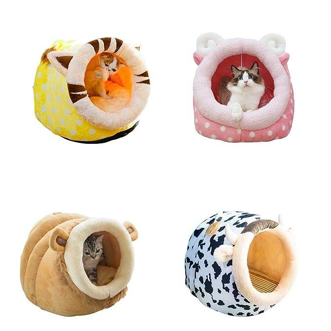 Rejoicing Caseta para Mascotas con diseño de Oso de Peluche y Jaula extraíble, Lavable, para Mascotas, Jaguar, Small: Amazon.es: Hogar