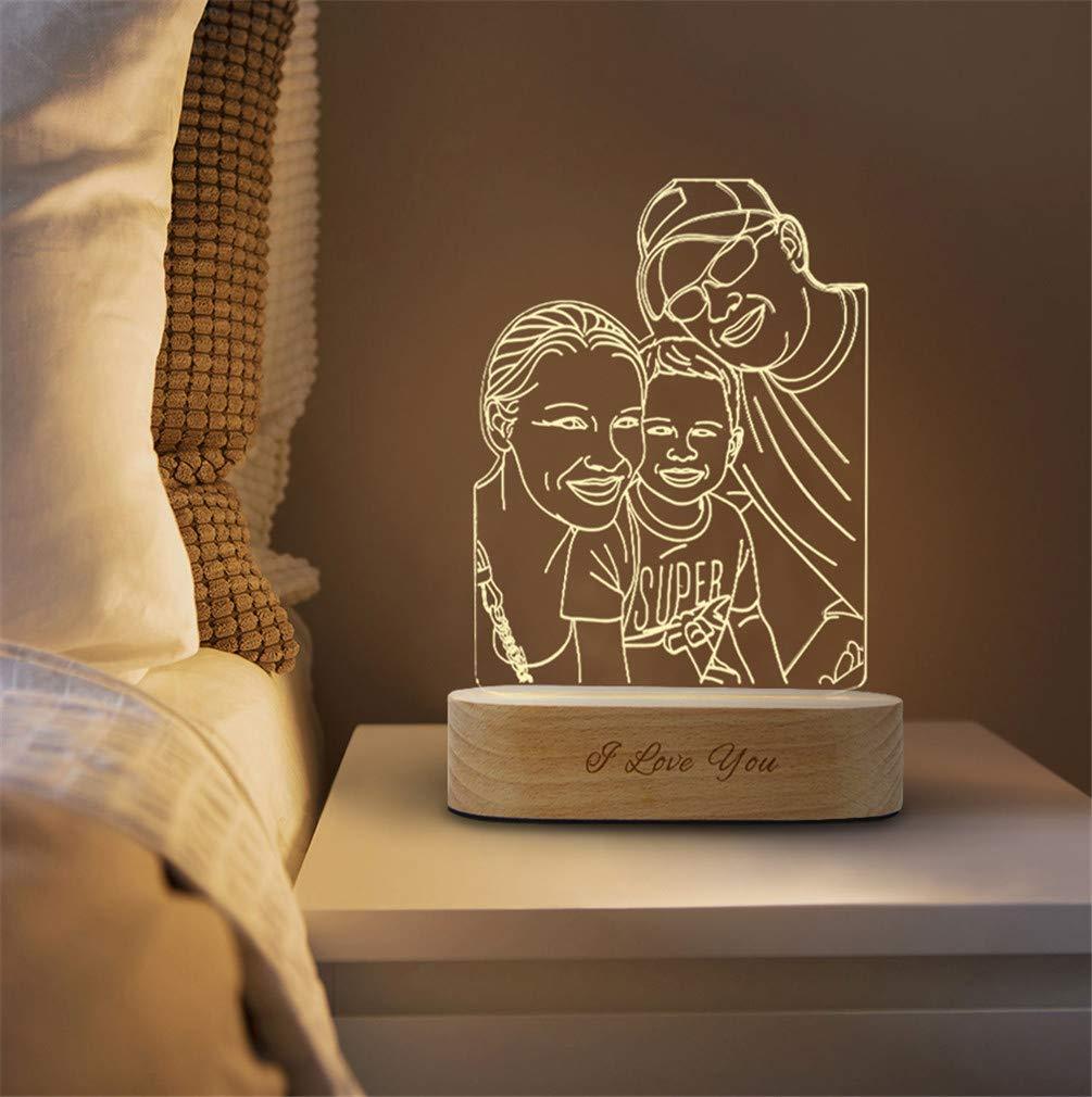 Personalisierte foto 3d kristall lampe nachtlicht mit bluetooth lautsprecher 16 farbwechsel led tischlampe musik player f/ür weihnachtsgeschenke