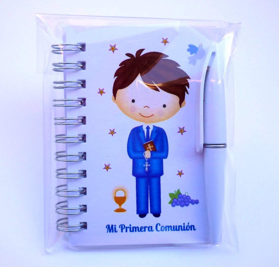 Detalles y Recuerdos de Comunión Para Invitados - Libretas con mini bolígrafo como Regalos de Primera Comunión Niño - Pack 30 unidades - ¡Sus Amiguitos ...