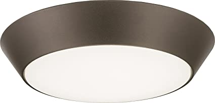 buy popular be6ba 68bbc Lithonia Lighting 13 inch Round LED Flush Mount Thin Ceiling Light Mount,  Black Bronze, 4000K, Dimmable, Wet Listed