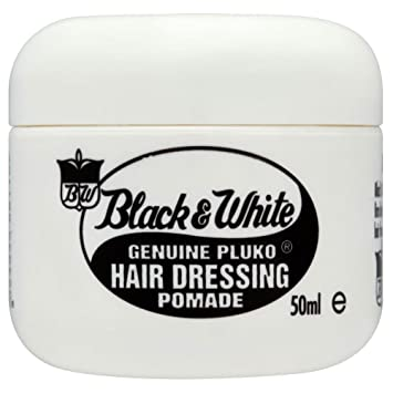 Amazon Black And White Genuine Pluko Hair Dressing Pomade