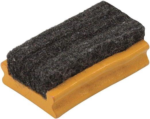 Maped 1 scatola di 10 gessetti bianchi H 260 x 182 mm Kit ardesia nero in pietra L piccola spugna in legno e feltro