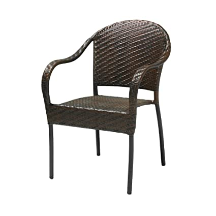 Amazon.com : NFusion Sunset Outdoor Polyethylene Wicker Chair - Set of 2 :  Patio Dining Chairs : Garden & Outdoor - Amazon.com : NFusion Sunset Outdoor Polyethylene Wicker Chair - Set