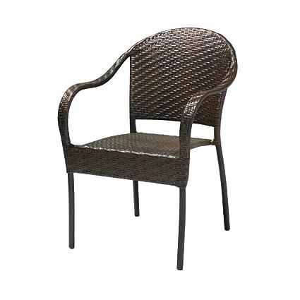 Sunset Outdoor Polyethylene Wicker Chair - Set of 2 - Amazon.com : Sunset Outdoor Polyethylene Wicker Chair - Set Of 2