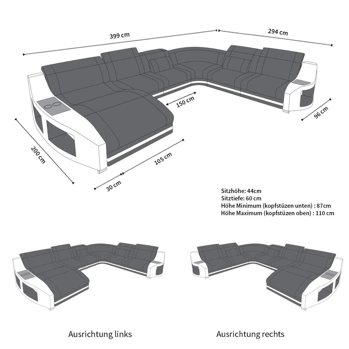 Amazoncom Sectional Sofa Palm Beach By Sofadreams Kitchen
