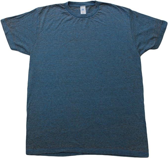 Sky Acid Wash Burnout T-shirts Adult S-3XL 60//40 Cotton//Polyester Blend