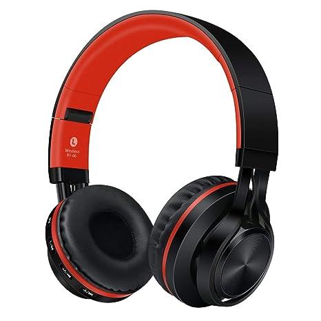 Sonido Intone Auriculares inalámbricos Bluetooth Plegable con micrófono BT-06 (Color: Rojo): Amazon.es: Electrónica