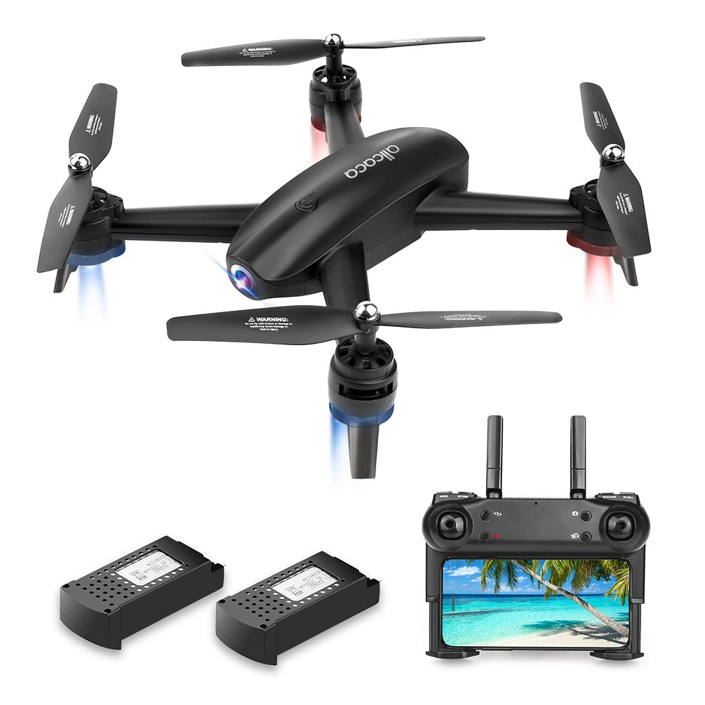 ALLCACA FPV RC Drone with Dual 720P HD Camera Live Video, Gesture Control WiFi Quadcopter with 3D Flips, GPS Return Home, Headless Mode, Gravity Sensor, Altitude Hold for Kids Beginners, Black by allcaca (Image #8)