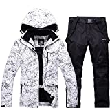 Smilovely Women's Waterproof Windproof Polyester Fiber Snowboard Suit Ski Jacket+Pants