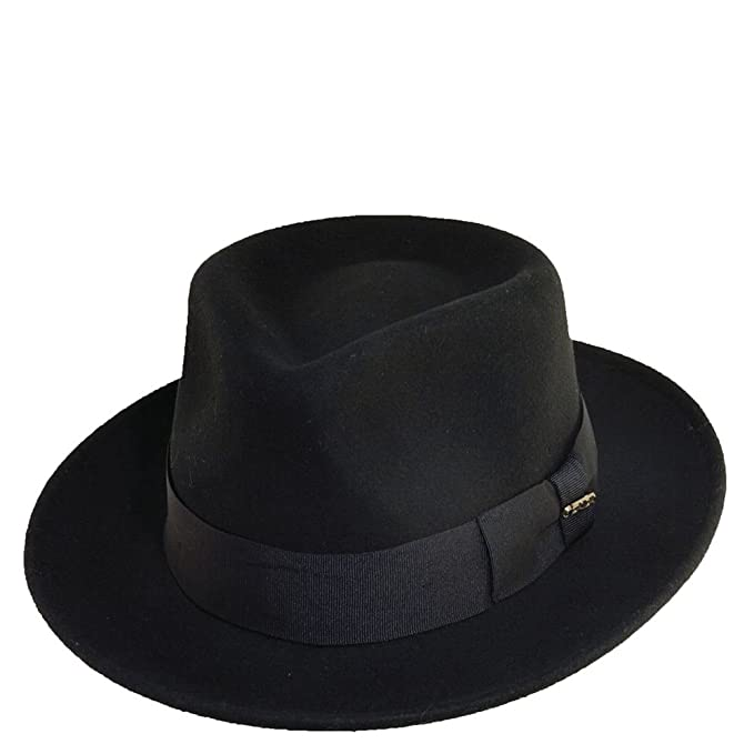 4e5e96e3162 Scala Classico Men s Crushable Wool Felt Fedora  Amazon.in  Clothing ...