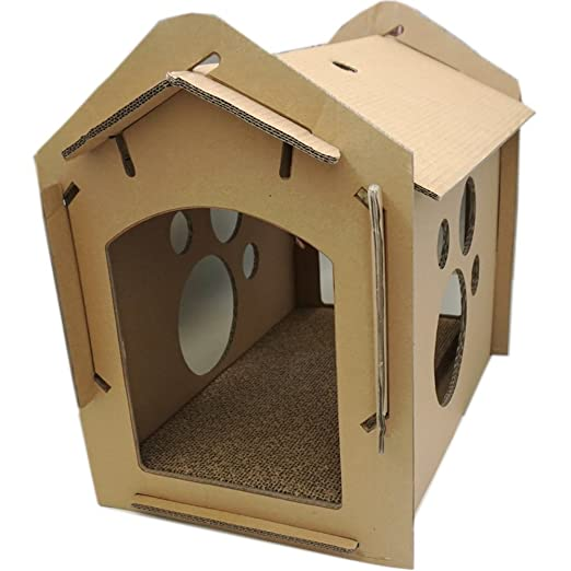 L&XY Cat Scratch Cat House Reciclable De Cartón DIY Asamblea Protege Tus Muebles Scratchpad Mat Cat Indoor Apartment Activity Centre: Amazon.es: Hogar
