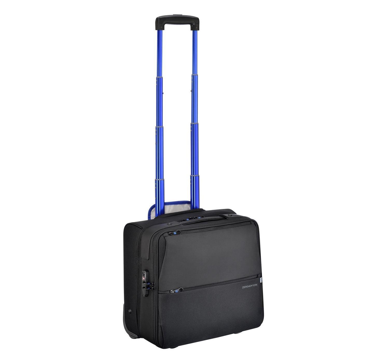 Zero Halliburton New York Greenwich 2-Wheeled Business Case, Rolling Nylon Briefcase in Black