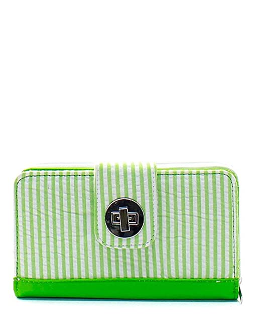 c1cd961cb8cb Seersucker Print Quilted Canvas Wallet Lime Green at Amazon Women's ...