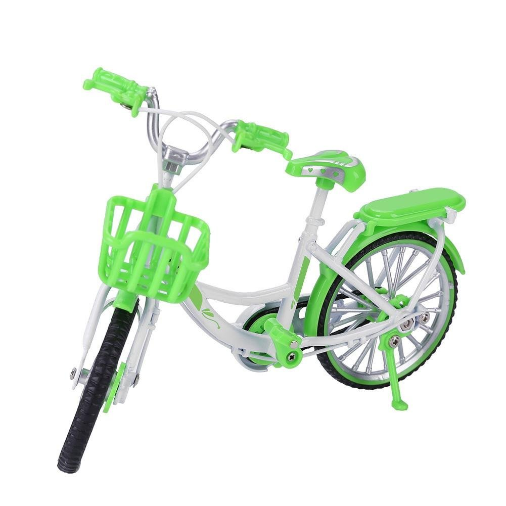 Chinatera Kids Toys Assemble Simulation 1:10 Racing Bike Model Alloy Replica Bicycle Collections Toys Children Gifts (Green)