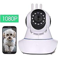 OWSOO 1080P Cámara Inteligente, con detección de Movimiento, Audio Bidireccional, Vision Nocturna, Monitor de Vigilancia para Bebés/Mascotas/Ancianos