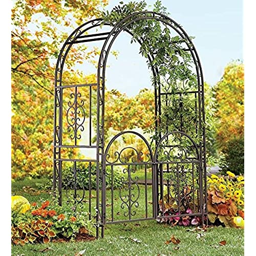 Great Garden Arbor Archway Dark Bronze Finished Iron Patio Arbor WITH Gate  Elegant U0026 Stylish Perfect For Weddings, Ceremonies, U0026 Outdoor Venues Looks  Great In ...