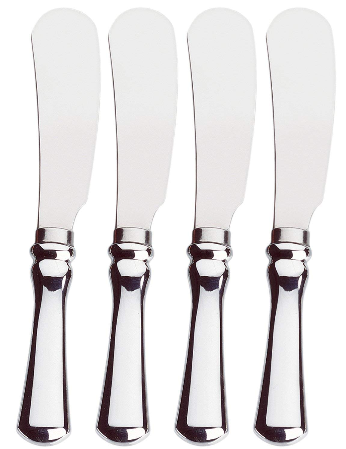 Set of 4 Stainless Steel Cheese Appetizer Spreaders Spreading Knives