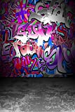 Daniu Hip Hop Background Photo Graffiti Style Photography Backdrops for Studio Props Vinly 5x7 Daniu-dn030